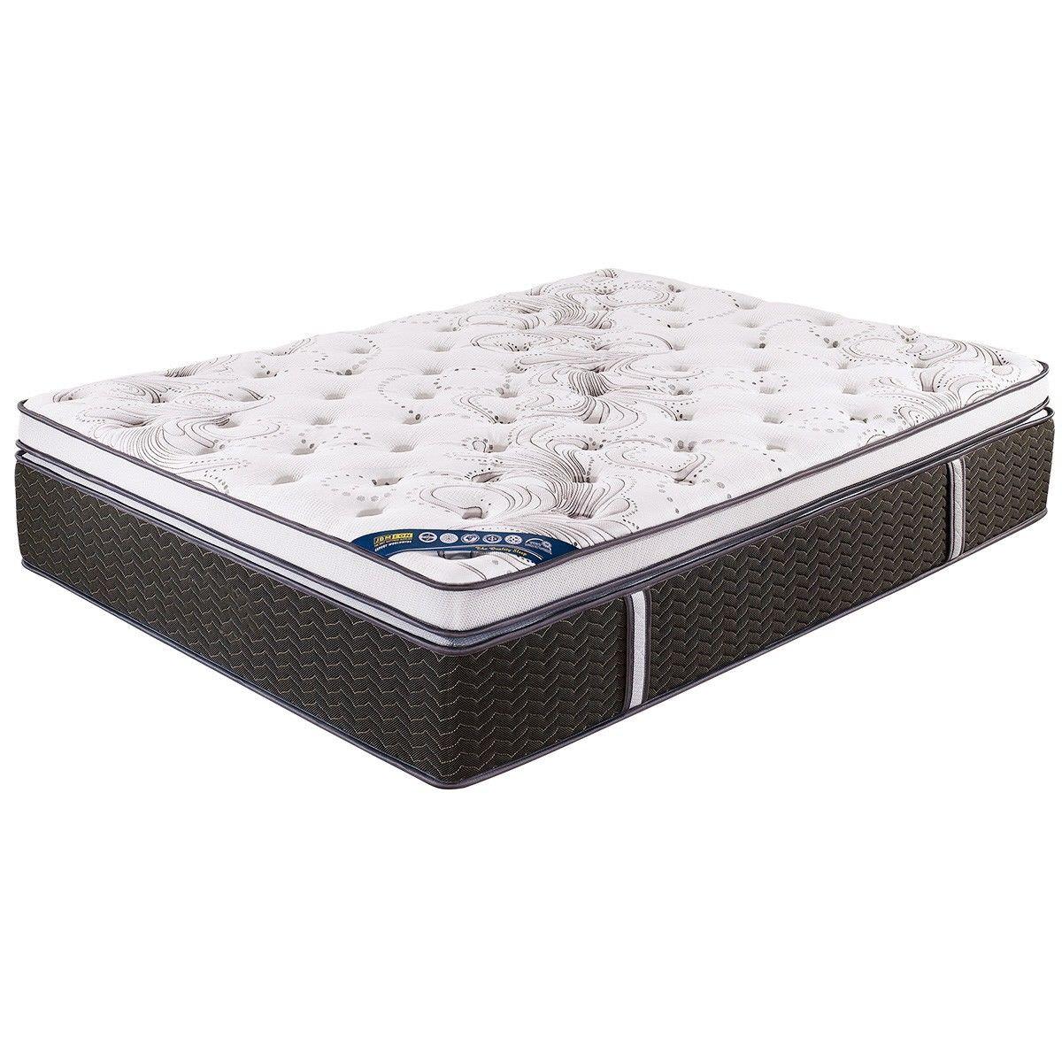 Evedon Medium Firm Pocket Spring Mattress with Memory Foam Pillow Top, Queen