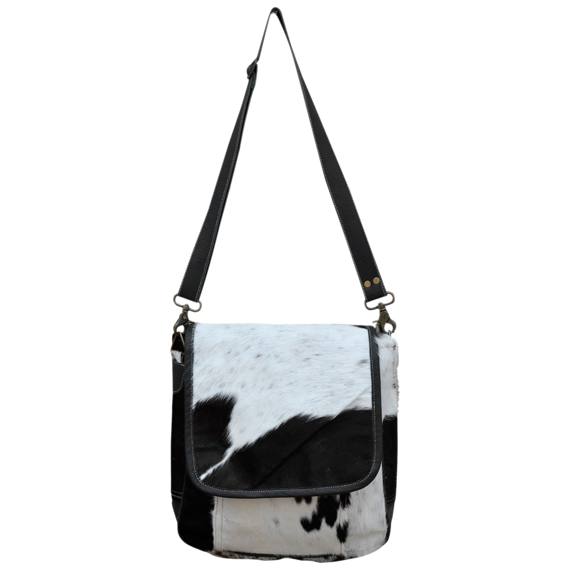 Flap Cowhide Messenger Bag