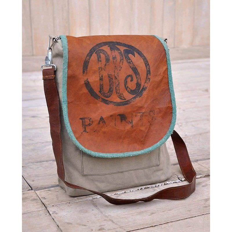 Bps Paints Vintage Hand Made Large Canvas Shoulder Bag