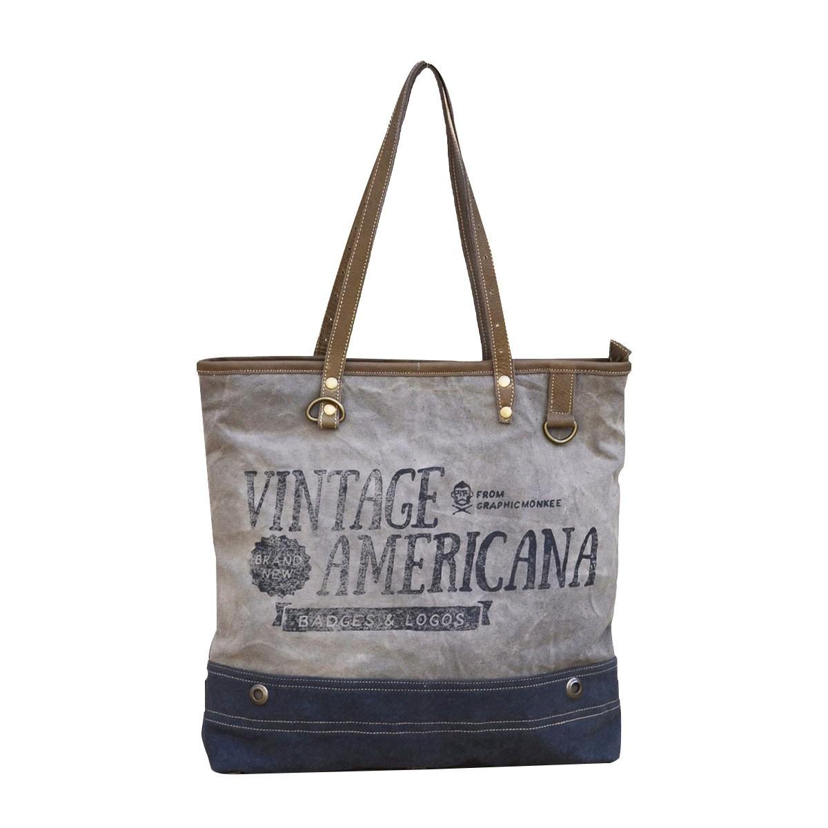 Vintage Americana Canvas Handbag