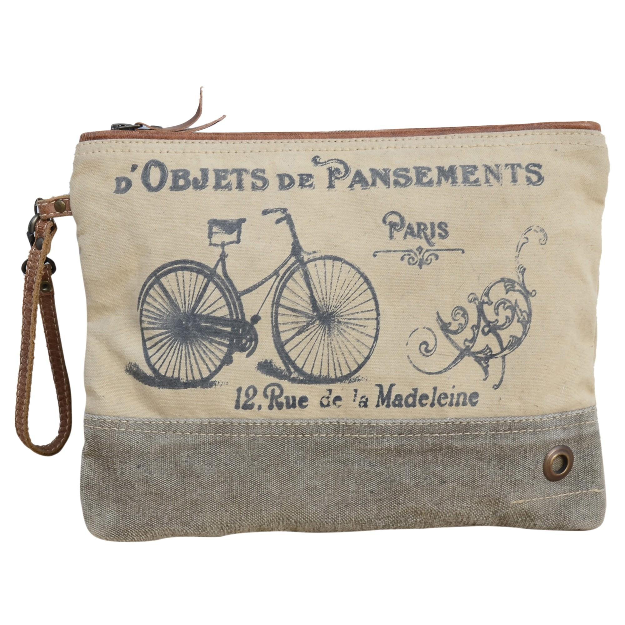 Madeleine Vintage Canvas Wristlet Bag