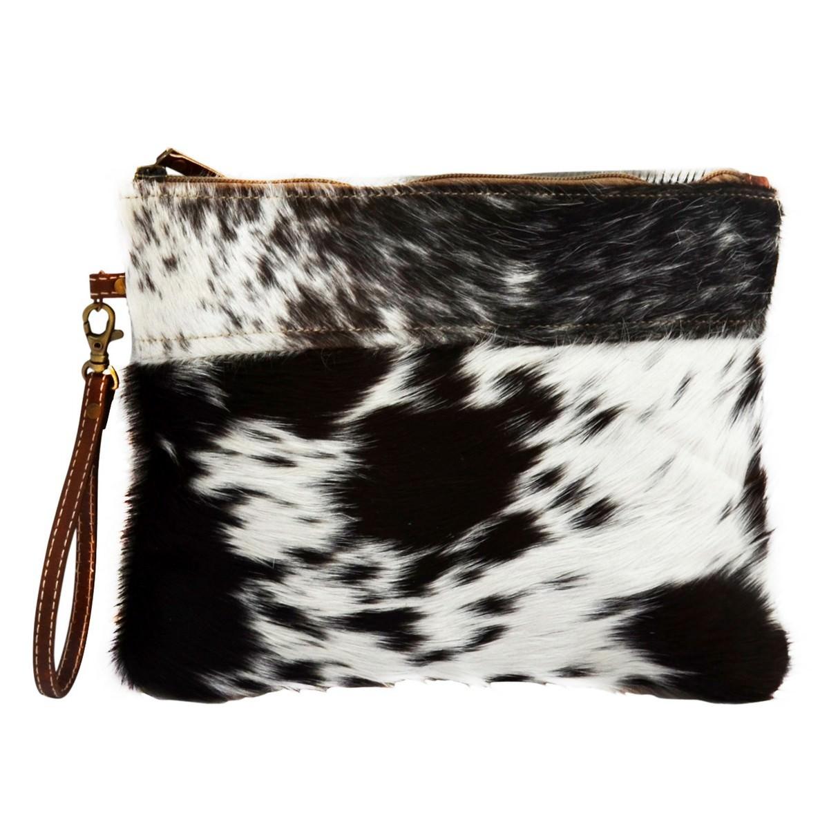 Everyday Cowhide Clutch Bag