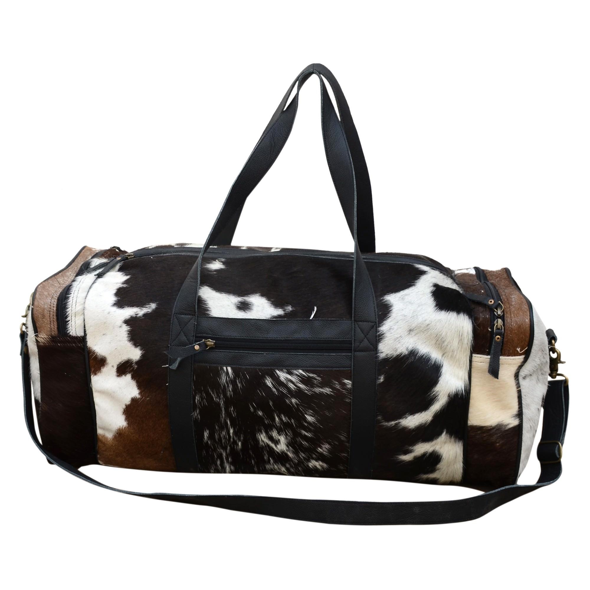 Ariela Leather & Cowhide Duffle Bag