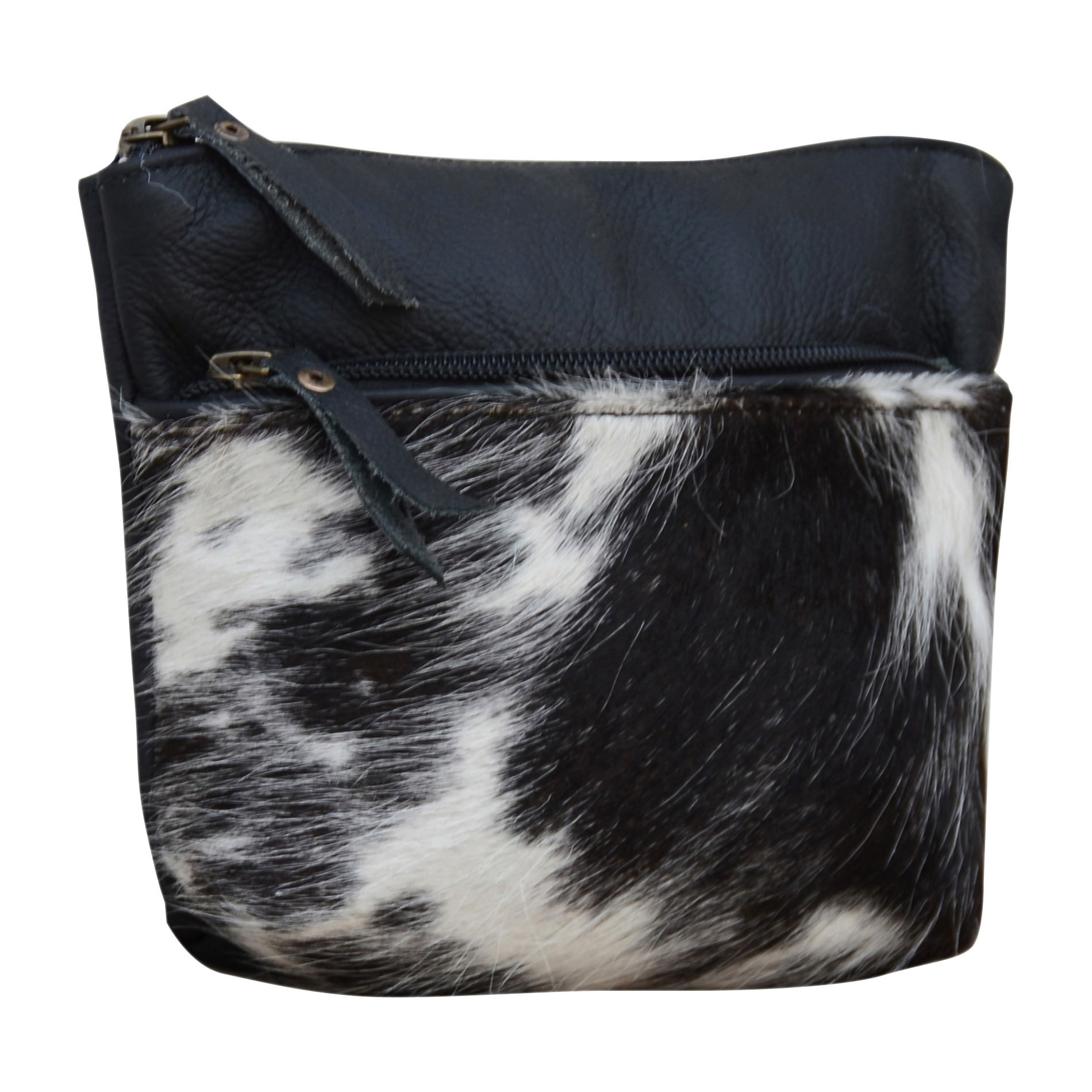 Irene Leather & Cowhide Pouch Bag