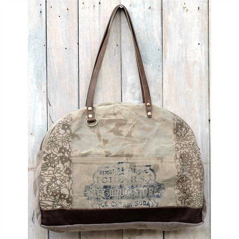 Moore Vintage Hand Made Canvas Demi Lune Bag