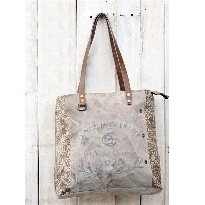 Grace Vintage Hand Made Canvas Tote Bag