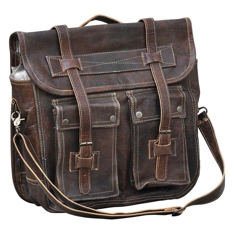 Hambidge Vintage Leather Stachel Bag