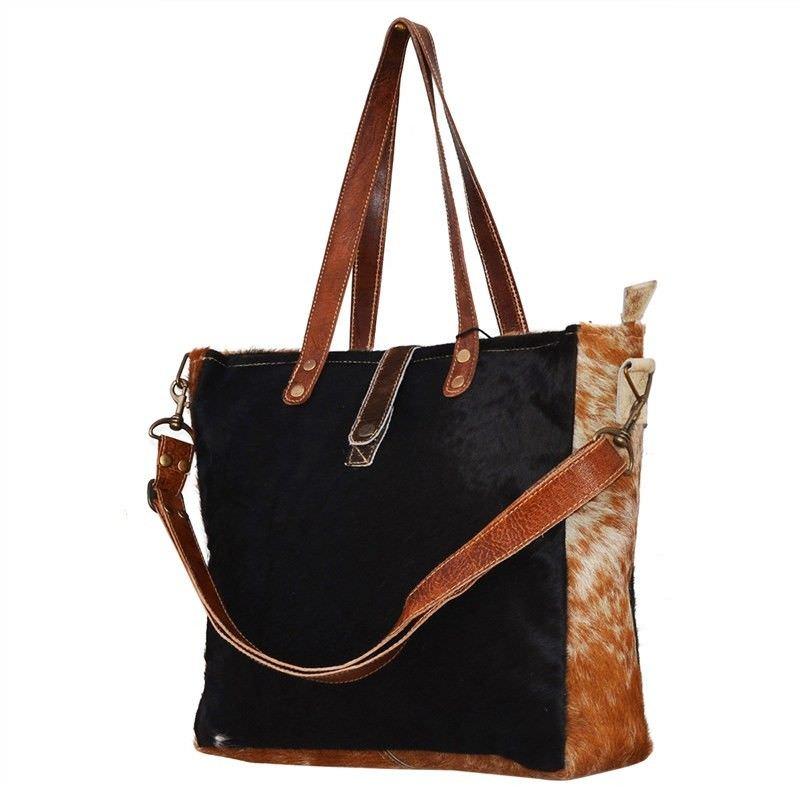 Reynella Cowhide Satchel Bag