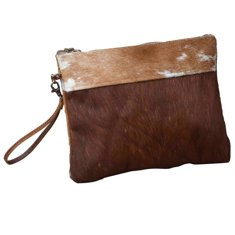 Netley Cowhide Zip Clutch Bag