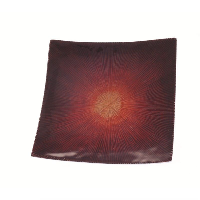 Red2Tone Square Dish 13x13 cm