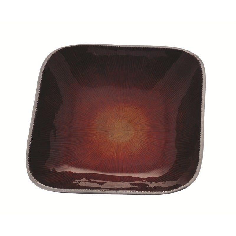 Red2Tone Square Bowl 22x22 cm