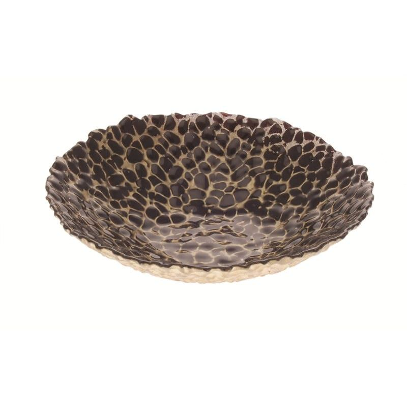 Patterned Bowl in Brown