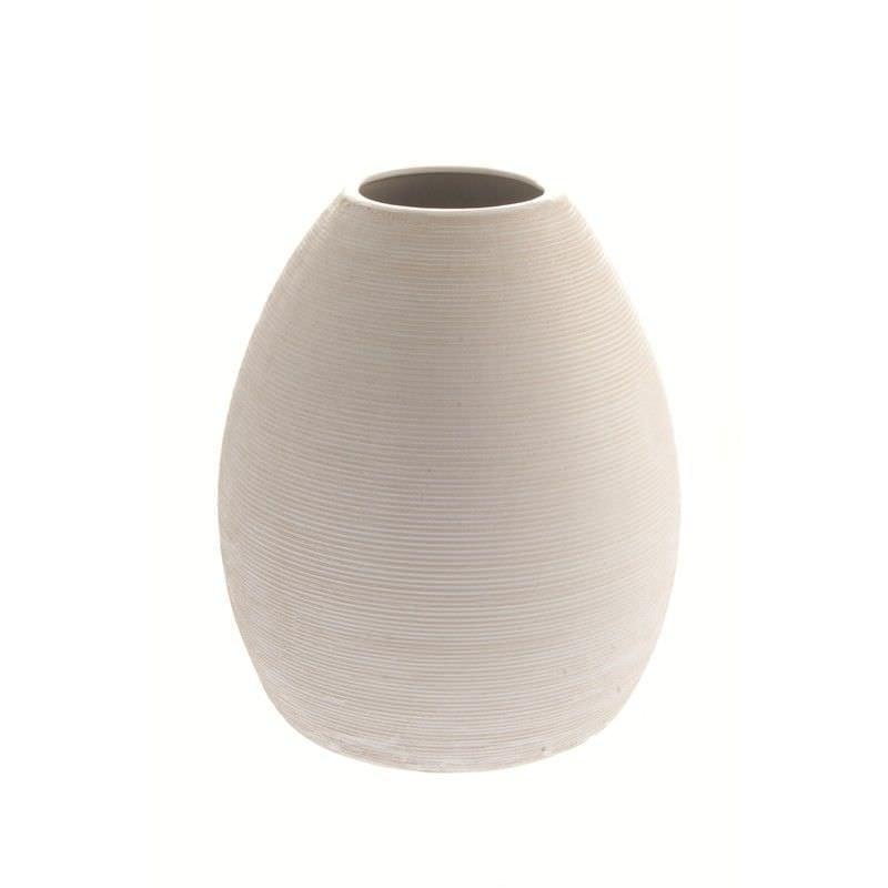 White Balloon Vase 32cm High