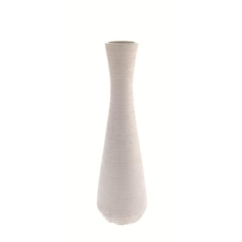 Whte Tall Vase Round Base 60cm High