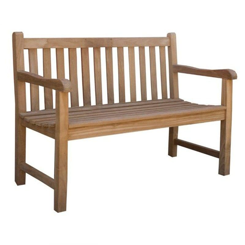 Classic Teak Outdoor Bench Seat - 120 CM