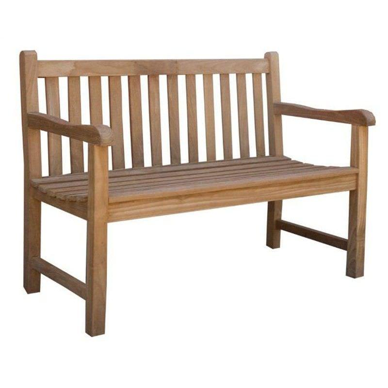 Montana Teak Timber Outdoor Bench, 150cm