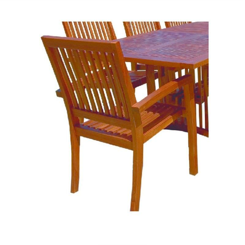 Portsea Teak Outdoor Stacking Chair