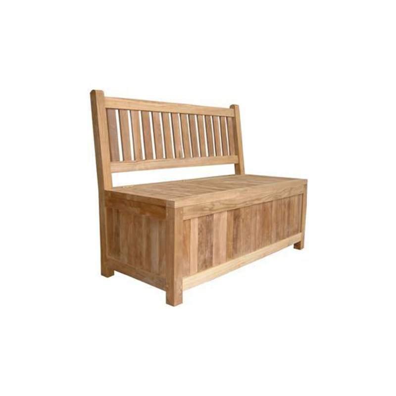 Carter Teak Timber Outdoor Bench, 150cm