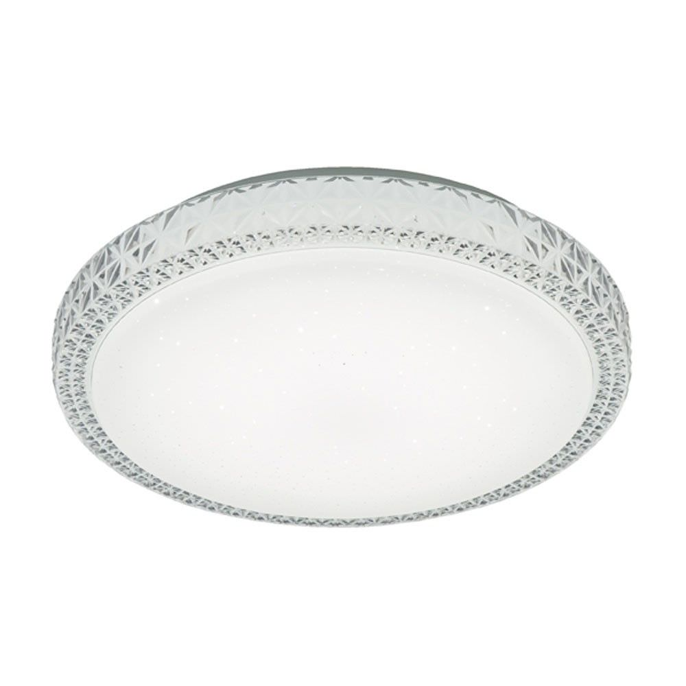 Lovato Diamante Style Colour Changing LED Oyster Ceiling Light, Small