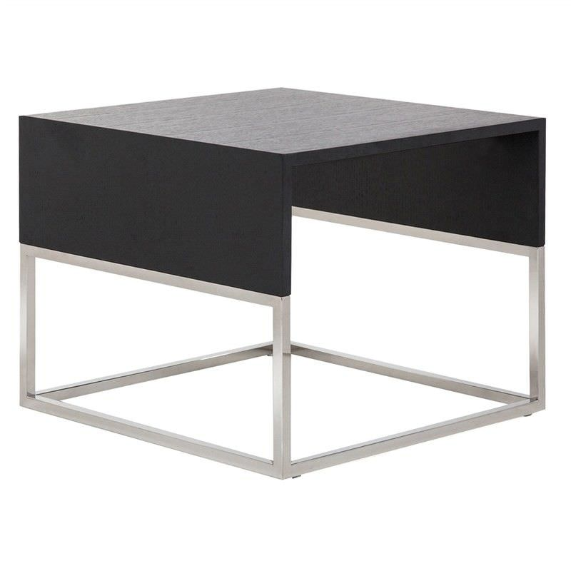 Maxwell Commercial Grade Side Table, Black Oak