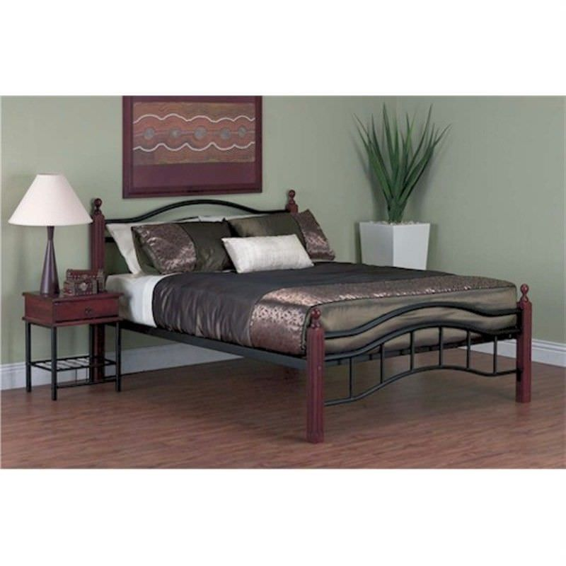 Madison Queen Metal And Timber Framed Bed