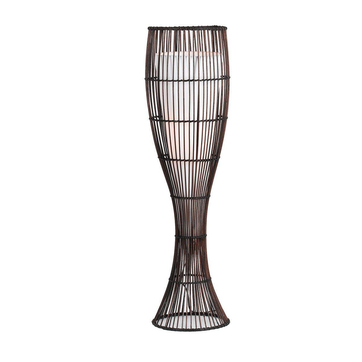 Maluka Rattan Floor Lamp, Large