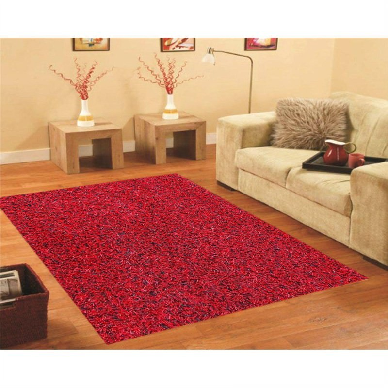 Handmade Shaggy Rug - Mix Red-Black 160 X 230CM