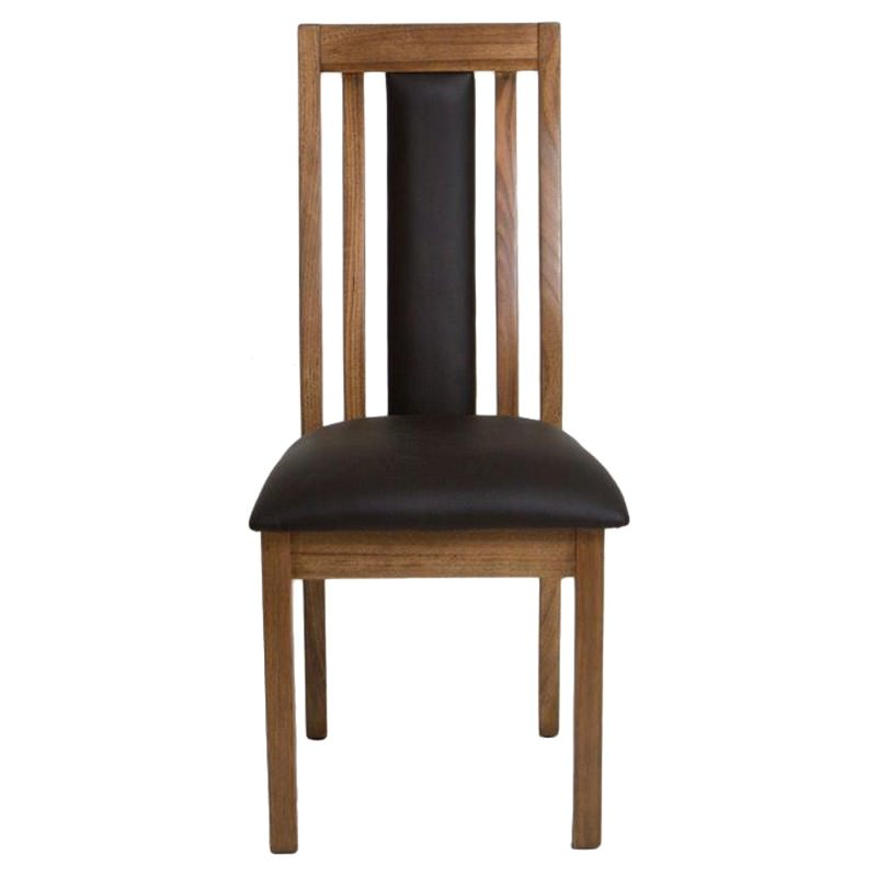 Mansfield Messmate Timber Chair, PU Seat & Back