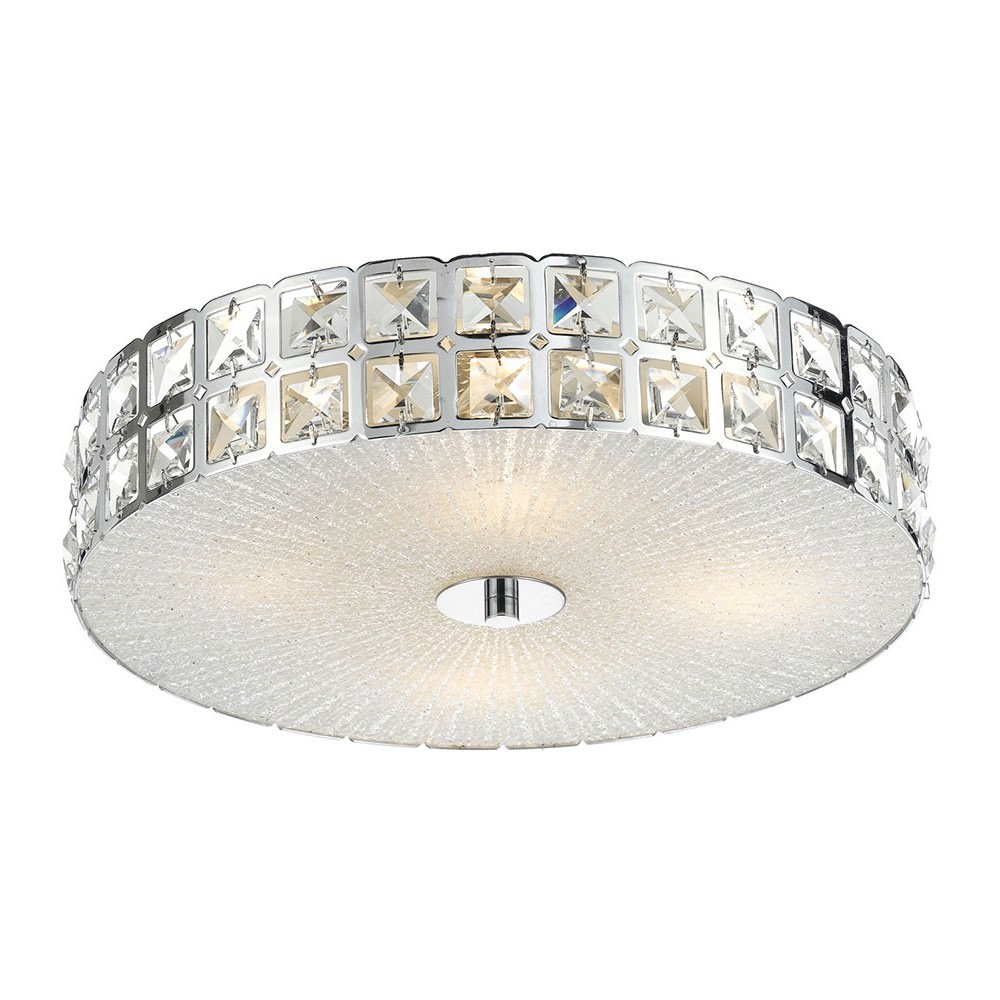 Lusa Oyster Ceiling Light, Round