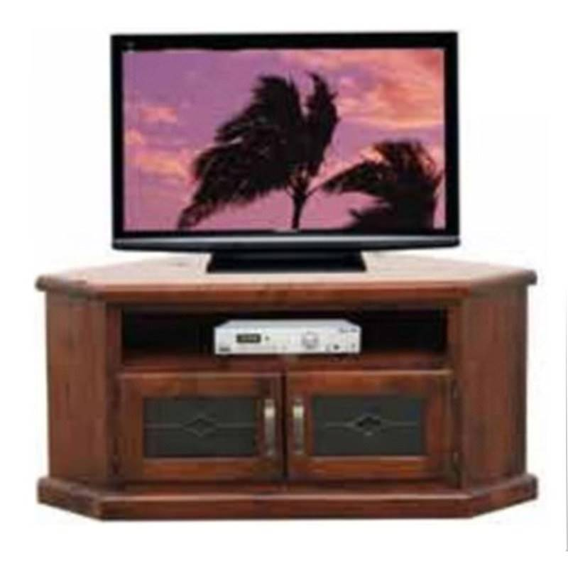 Spring New Zealand Pine Timber 2 Door Corner TV Unit, 130cm