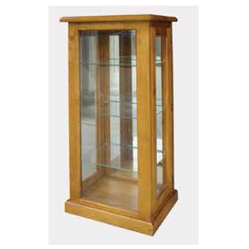 York New Zealand Pine Timber Display Cabinet, Blackwood