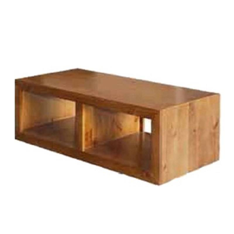 New Zealand Pine Cube Coffee Table in Blackwood - 118cm