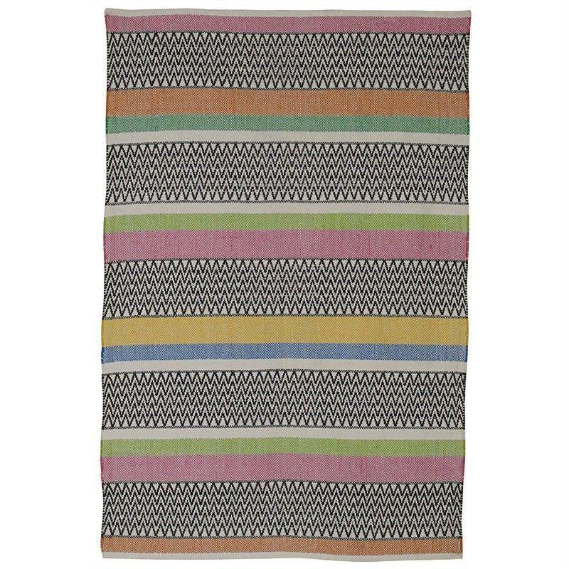 Maya Flat Weave Cotton Rug - 120x180cm