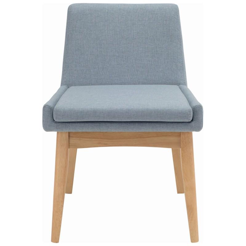 Maya Commercial Grade Fabric Dining Chair, Aquamarine / Natural