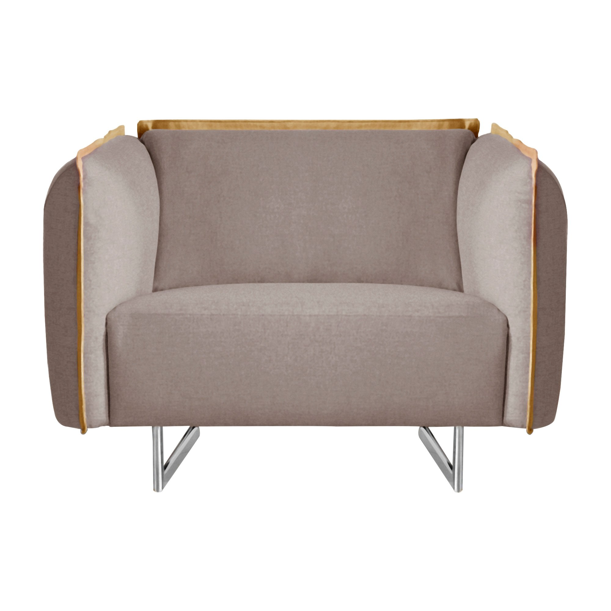 Peyton Fabric Armchair, Light Grey