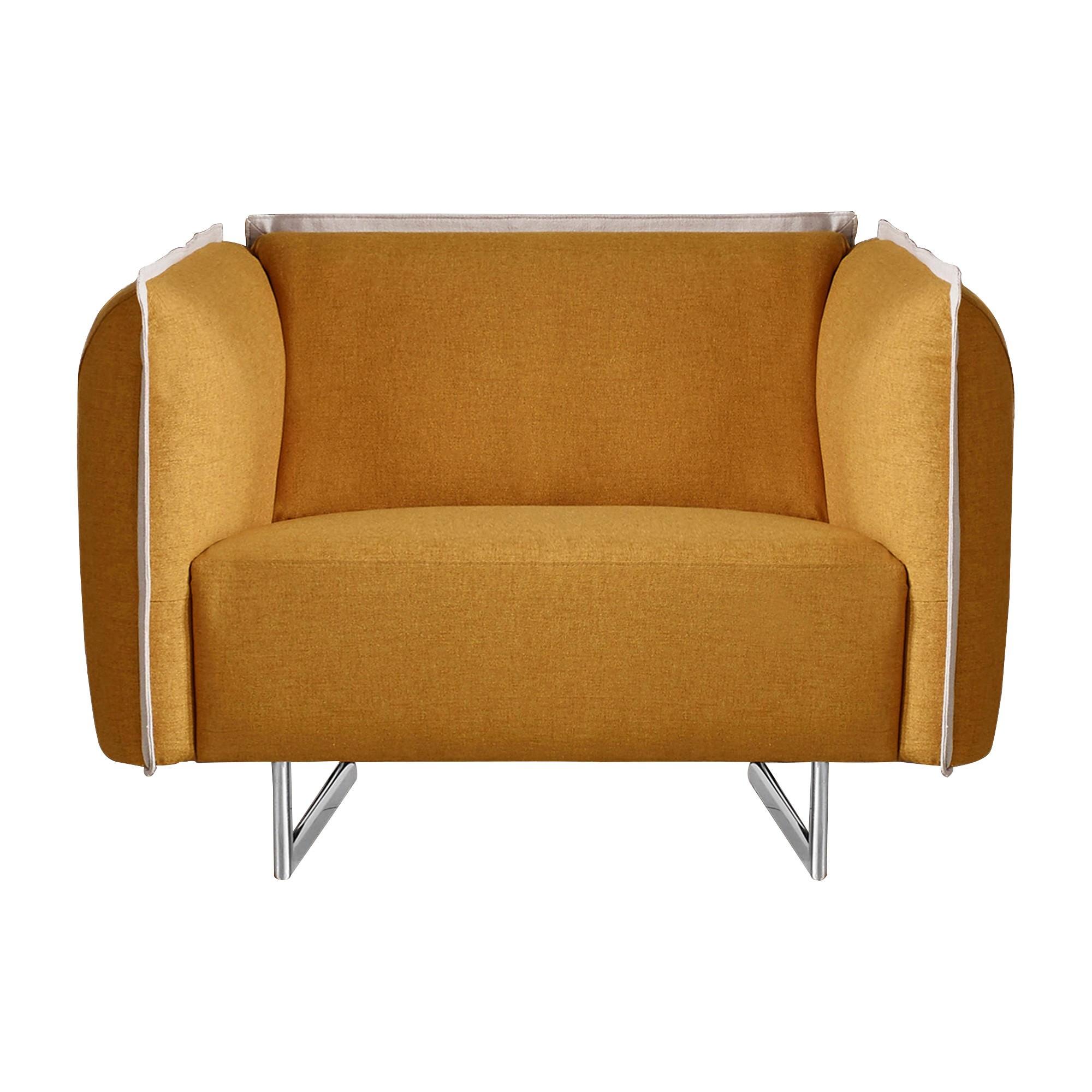 Peyton Fabric Armchair, Yellow
