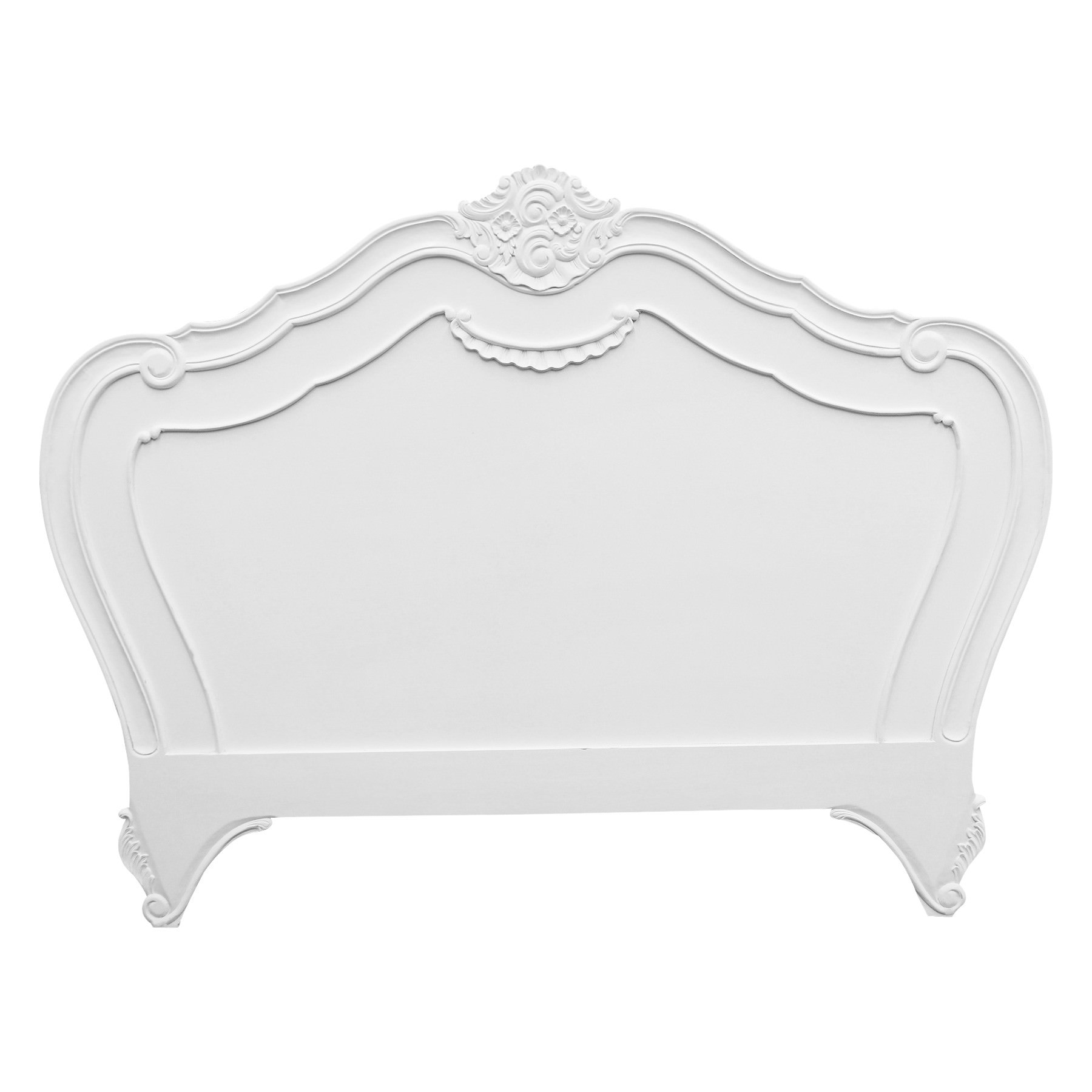 Challuy Hand Crafted Mahogany Queen Size Headboard, White