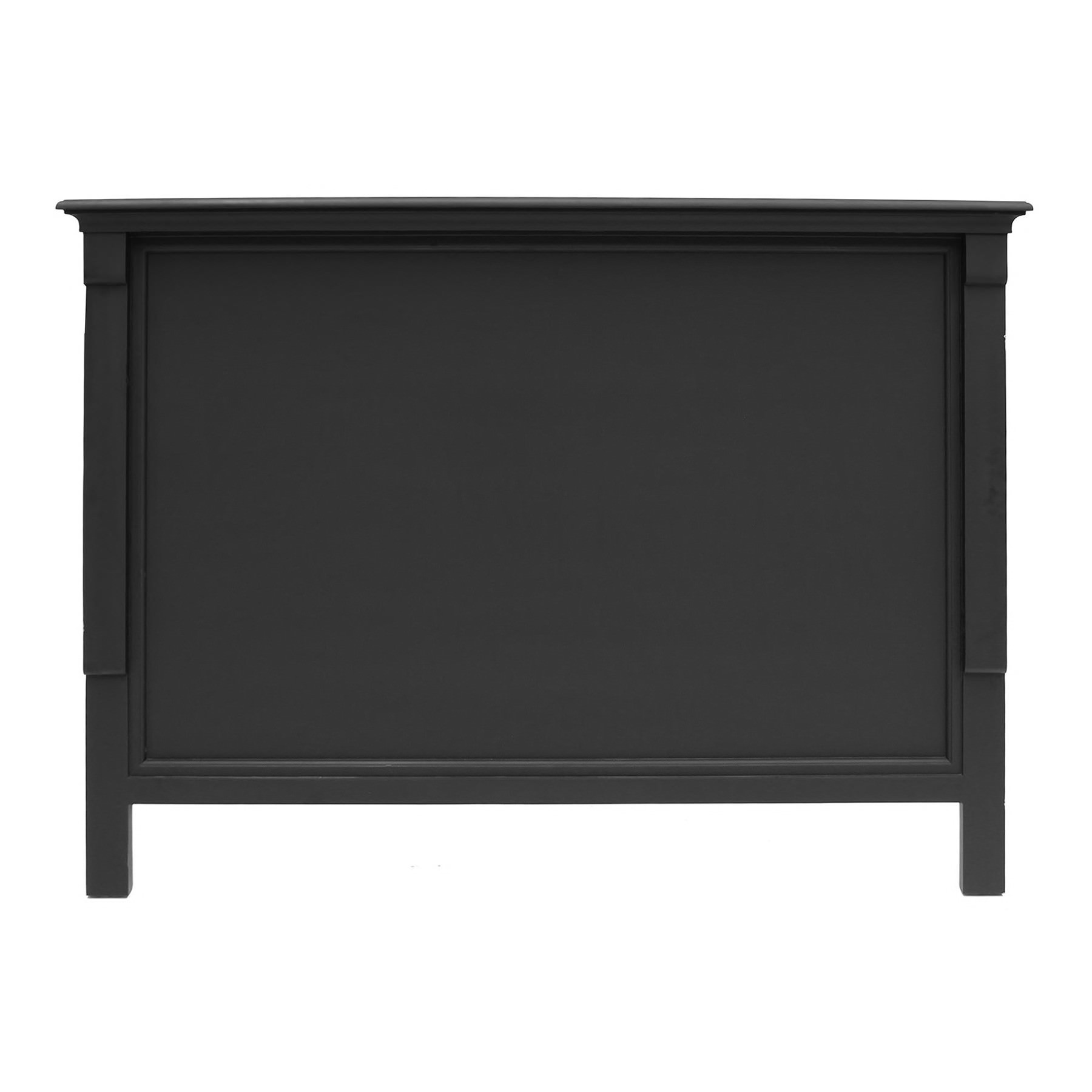 Belley Hand Crafted Mahogany Timber Bed Headboard, King, Black