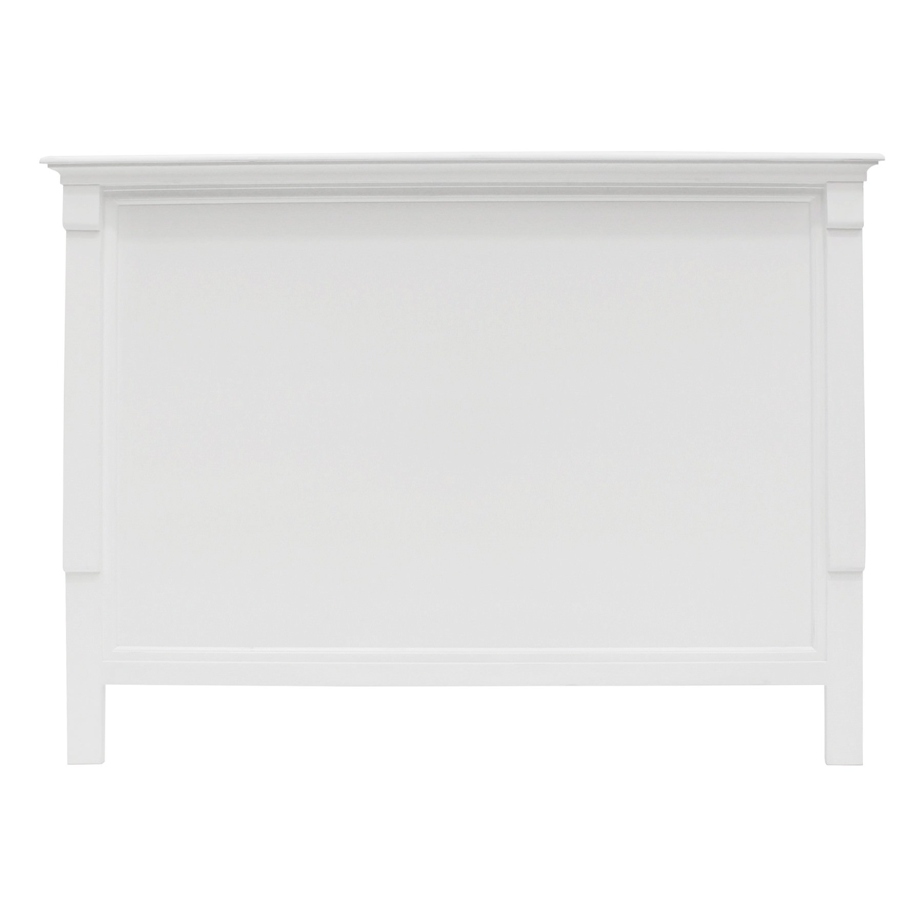 Belley Hand Crafted Mahogany Timber Bed Headboard, Queen, White