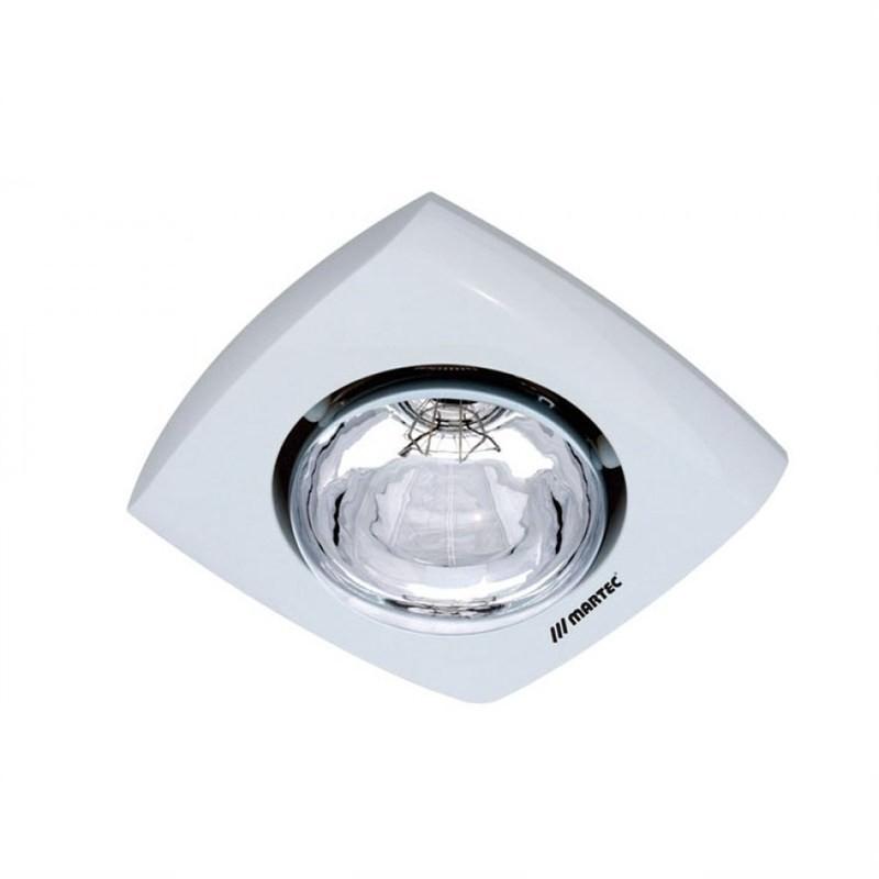 Martec Contour Single Lamp Bathroom Heater - White (MBHC1LW)