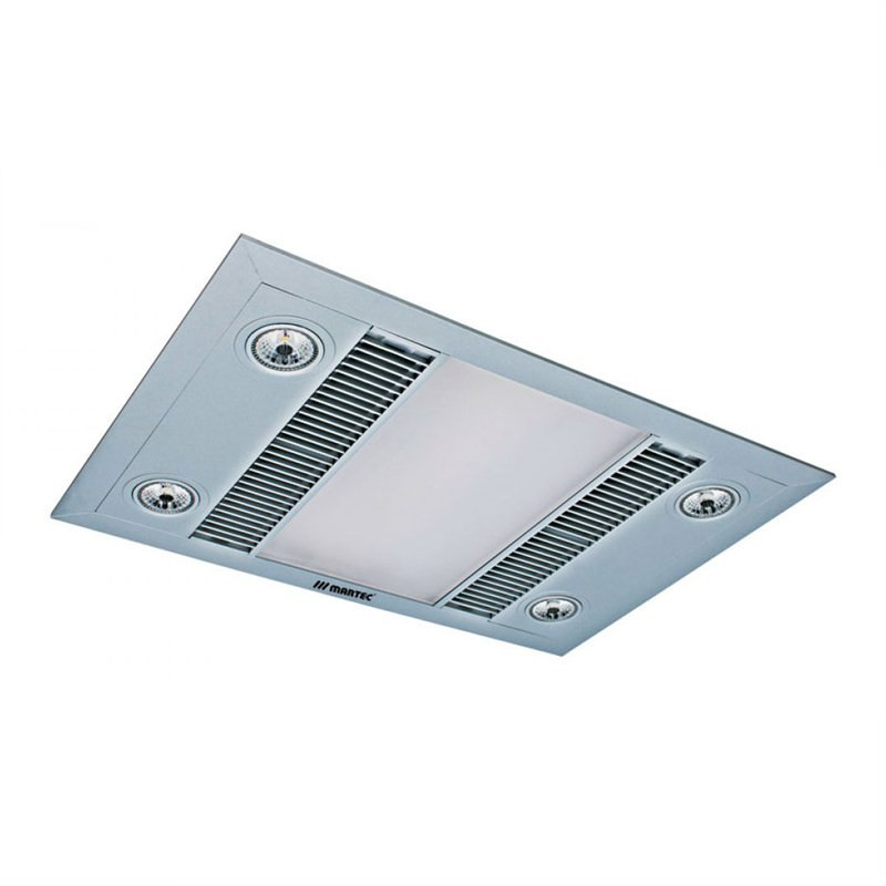 Martec Linear 3-in-1 Bathroom Heater with High Extraction Exhaust Fan and LED Illumination - Silver (MBHL1000S)