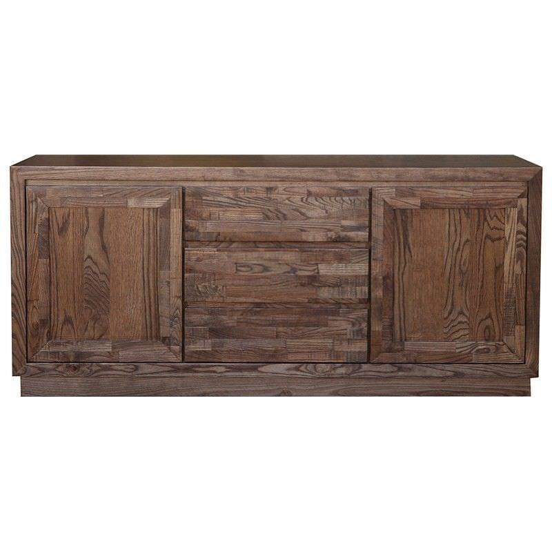 Hawthorn Solid American Oak Timber 2 Door 3 Drawer 165cm Buffet Table