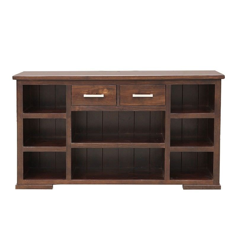 Scott New Zealand Pine Timber Hall Display Unit, Wedge