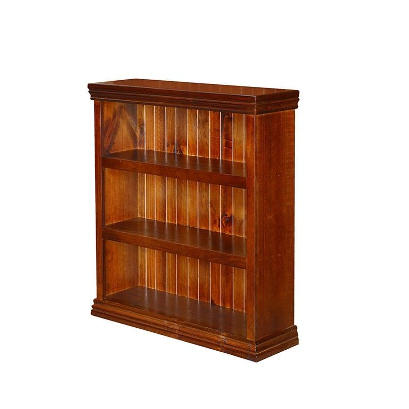 Mona New Zealand Pine Bookcase, 120cm High, English Oak