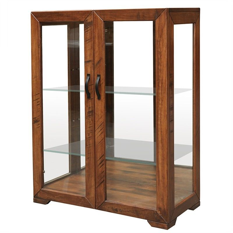Egypt Hardwood 2 Door Glass Display Cabinet