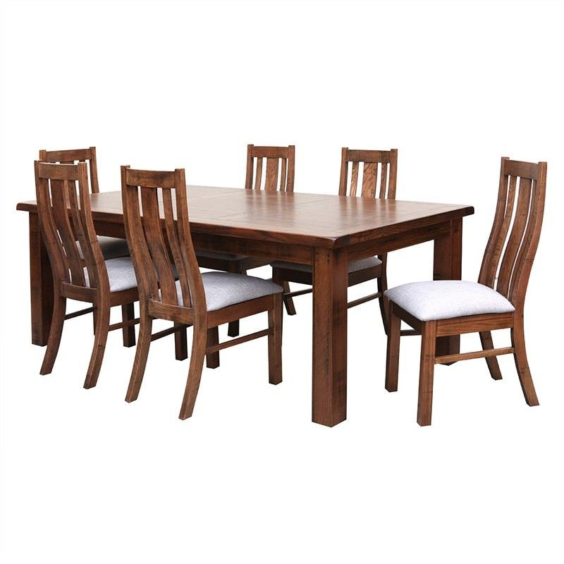 Paris Solid Tasmanian Oak Timber 210cm Dining Table (Table Only) - Teak Stain