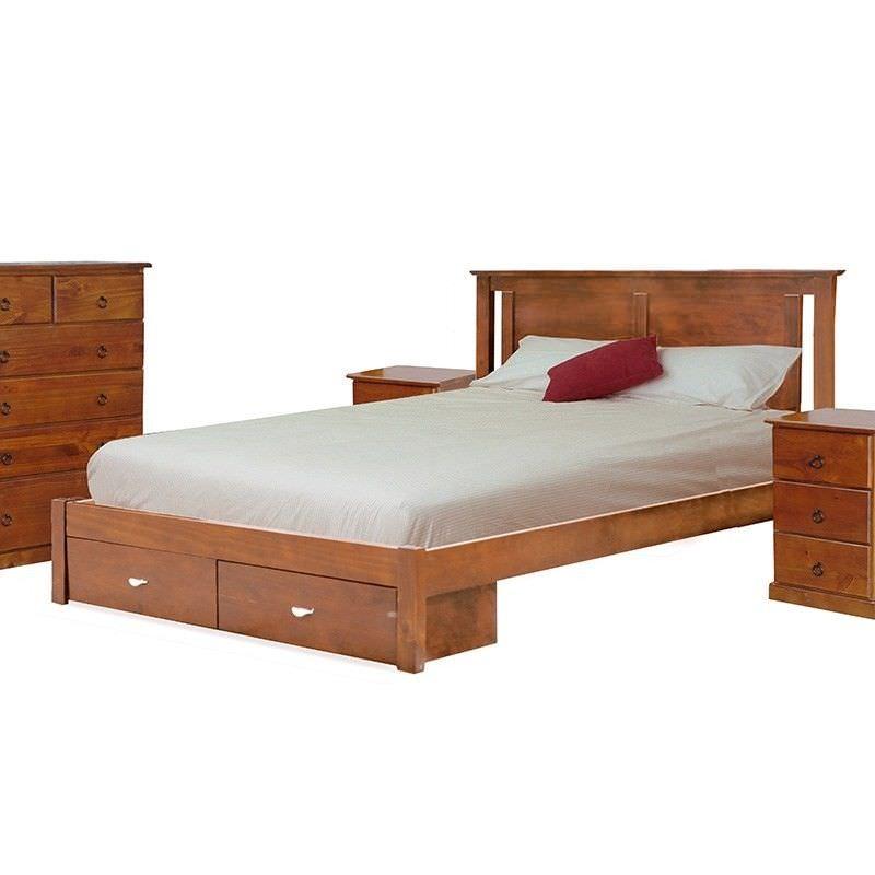 Alison Queen Bed in Blackwood