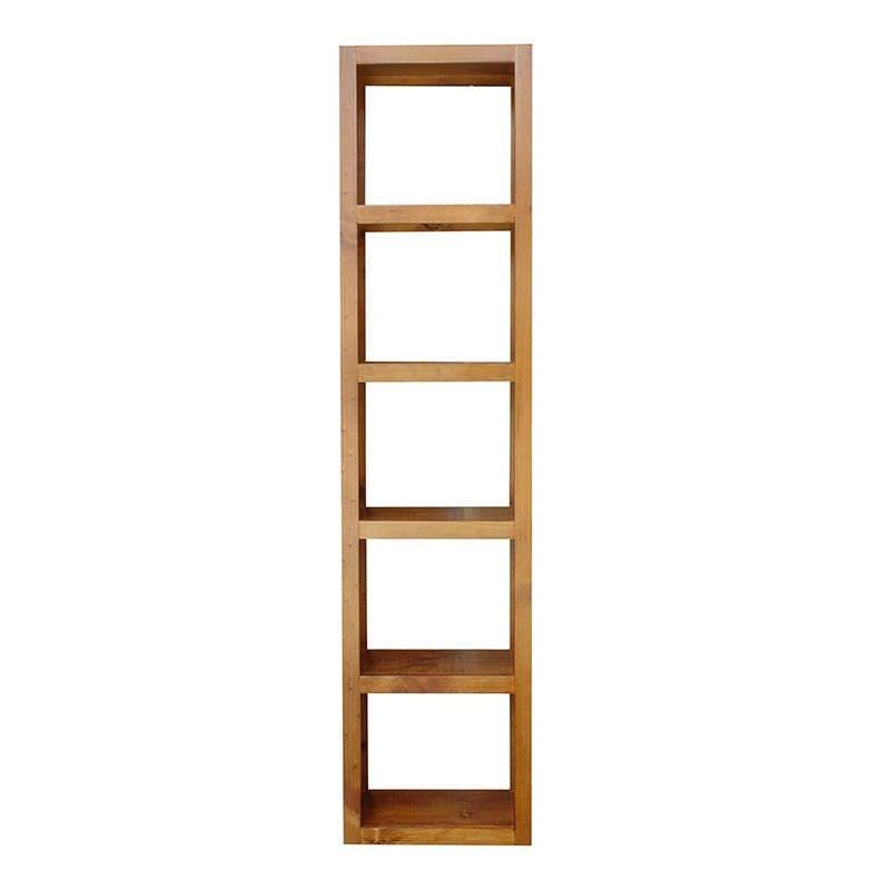 Elmont Solid Pine 5 Cube Display Shelf, English Oak