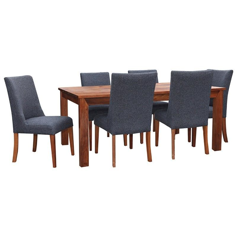 Kron Solid Blackwood Timber 210cm Dining Table (Table only)