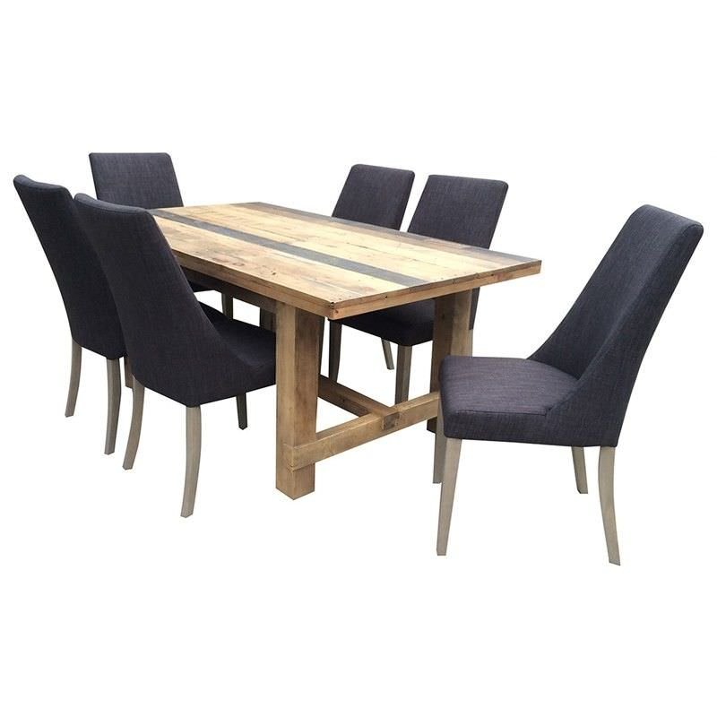 Wheaton Solid Recycled Pine Timber 210cm Dining Table (Table Only)